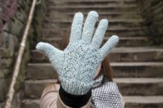 Yiskah Knits Lacy Gloves