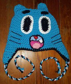 Gumball from The Amazing World of Gumball crochet beanie
