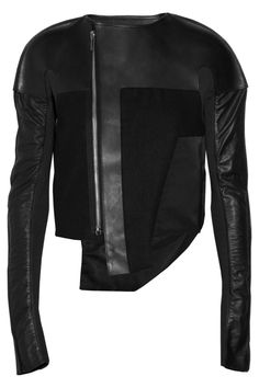 Positively badass. Leather and felt jacket by Rick Owens