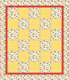 Kids Beginner Quilt Pattern good for the grand daughters.