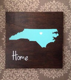Teal State sign. North Carolina sign. Panthers by theratliffco