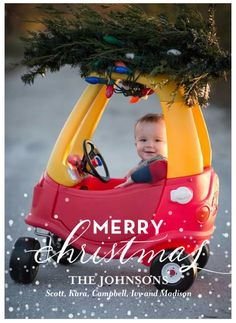 Cozy Coupe Christmas Card                                                                                                                                                                                 More
