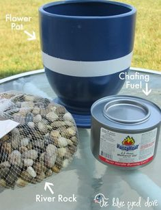 Use Sterno Fuel instead of chafing fuel on your table fire-pit No harmful chemicals/ ok for inside use