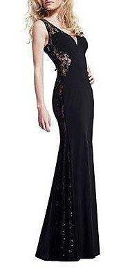 Women's V Neck Sleeveless Bodycon Maxi Dress
