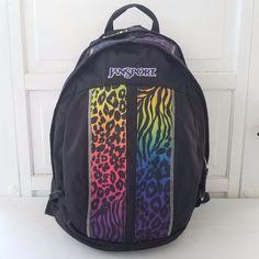 98c8037091fd JanSport Backpack Black Rainbow Leopard Zebra Sputnik Core Series Day Pack  Bag  JanSport  Backpack