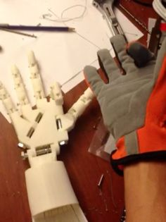 DIY Robotic Hand Controlled by a Glove and Arduino by dschurman