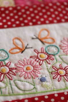 Embroidered posies