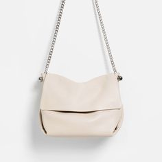 LEATHER CROSSBODY BAG WITH CHAIN - View all-BAGS-WOMAN | ZARA United States