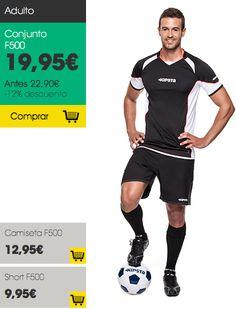 Conjunto F500 adulto #Kipsta #vueltaaldeporte - Decathlon #Futbol