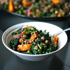 Apricot, Kale, and Quinoa Salad - Get Off Your Tush and Cook!
