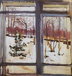 Zinaida Serebriakova , Window and Landscape, 1910