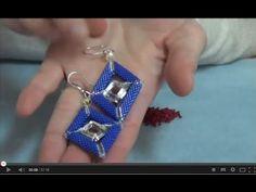 Realizzare orecchini a rombo con le Miyuki Delica 11/0 e Swarovski Elements - PerlineBijoux.com - YouTube