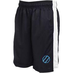 Mens UFC Black Blue Leg Drop Mesh Shorts