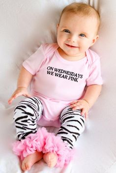 On Wednesdays We Wear Pink Mean Girls Onesie - Adorable, cute, funny onesie for your little clique buddy. Only $9.99! Perfect gift for your movie buff cutie.