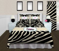 Animal Print Bedding, Love this remains fun, and has a more grown up appeal. Fleece Baby Blankets, Boy Blankets, Full Duvet Cover, Duvet Covers, Zebra Print Bedding, Twin Comforter, King Duvet, Personalized Throw Blanket, Clean Design