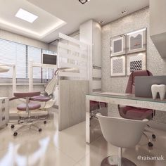 45 Fantastic Dental Office Decorating Ideas - Home Decor Clinic Interior Design, Clinic Design, Medical Office Decor, Office Signs, Dentist Clinic, Office Waiting Rooms, Cabinet Medical, Dental Office Design, Dental Offices