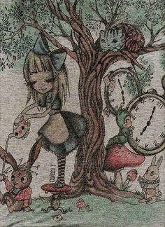 Alice, Tea cup.
