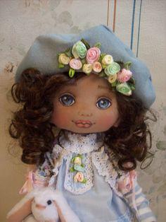 Lillien textile doll - Doll - Handmade doll -Cloth  doll - Toys - Home decor - Tilda doll by TrixiCreation on Etsy