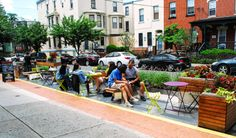 Parklet, urban, parking, plants, park, pop-up, philadelphia
