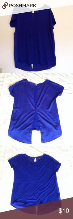 Open Back Top Open-back cobalt blue top from H&M. Looks great paired with leggings or jeans and a bralette. H&M Tops