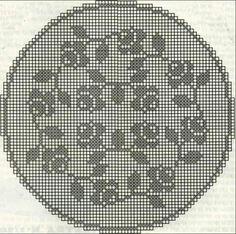Kira scheme crochet: Scheme crochet no. Cross Stitch Rose, Cross Stitch Flowers, Cross Stitch Charts, Cross Stitch Patterns, Crochet Angel Pattern, Crochet Patterns, Crochet Tablecloth, Crochet Doilies, Cross Stitching