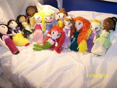 Crocheted Disney princess dolls