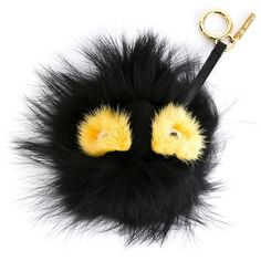 Fendi Monster Fur Keychain ($900) ❤ liked on Polyvore featuring accessories, bugs + charms, kirna zabete, fendi, fur key chain and fob key chain