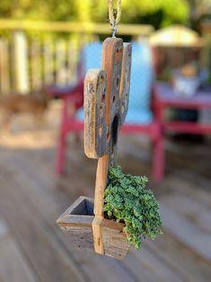 Succulent Wall Planter, Wood Planters, Garden Planters, Hanging Planters, Lake Decor, Green Cactus, Cactus Decor, Air Plants, Succulents