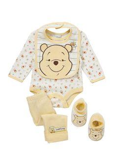 Disney Winnie the Pooh 4 Piece Set Disney Baby Clothes, Newborn Boy Clothes, Baby Doll Clothes, Baby Outfits Newborn, Cute Baby Boy Outfits, Kids Outfits, Baby Dolls For Kids, Boys Winter Clothes, Baby Boy Fashion