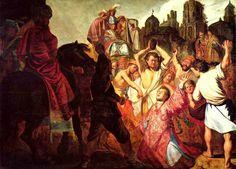Рембрандт. Побиение камнями святого Стефана. 1625 г.