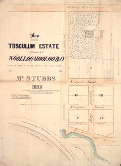 Tusculum Estate Sydney Map, Real Estate Ads, Historical Images, Vintage Maps, History Photos, Australia, How To Plan, Things To Sell, Real Estate Signs