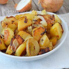 Patate al forno con cipolle