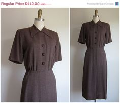 SALE 15 OFF 1940s Dress / Vintage 1940s by TulleandTiaraVintage, $95.20