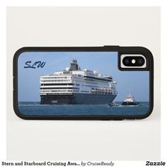 Stern and Starboard Cruising Away Monogrammed iPhone X Case