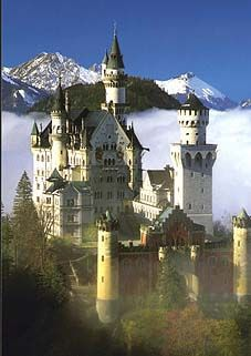 Neuschwanstein Castle (King Ludwig II's first castle) Germany
