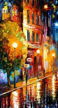 Mysterious Night by Leonid Afremov