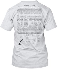 """LIMITED EDITION Independence Day T-Shirt  The declaration of Independence printed on the back with the  """"Independence Day"""" stamped out of the middle.  With Signatures. More Styles and Colors available Get It Now! >> http://teespring.com/independence-day-july-4-177"""
