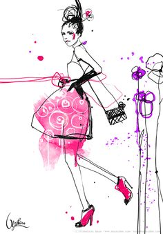 Fashion illustration by Anna Ulyashina - illustrator, via Behance