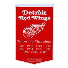 Detroit Red Wings Dynasty Banner, Multicolor