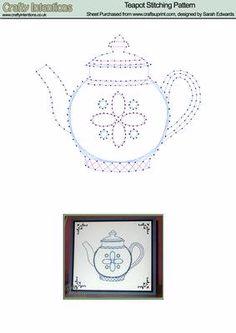 Teekanne Stitching Muster