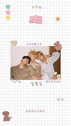 Soft Wallpaper, Kawaii Wallpaper, Bts Wallpaper, Nct Album, Sticker Organization, Kpop Posters, Nct Dream Jaemin, Diy Crafts To Do, Cult