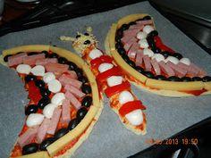 Gotowanie i pieczenie - I love it .: Pizza motyl na puszystym cieście It, Sushi, Pizza, Ethnic Recipes, Food, Essen, Meals, Yemek, Eten