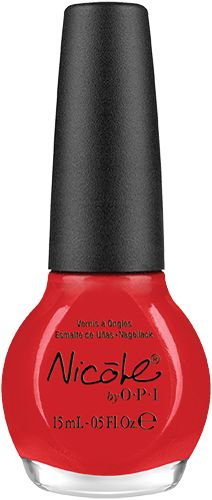 Kourt is Red-y for a Pedi: perfect shade of red!