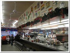 Watsons Drug Store and soda fountain in the city of Orange, CA. Historical landmark.another fun diner