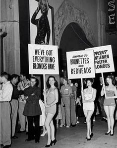 protesting blondes... jealousy is the ugliest trait ladies!