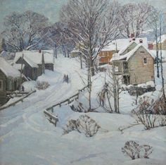 Aldro Thompson Hibbard  New England Winter Landscape