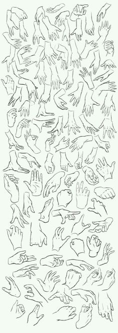 Different types of hands to draw