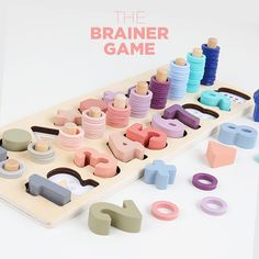 This beautiful wooden Montessori Toys is perfect for children to learn Shapes, Colors & Maths!