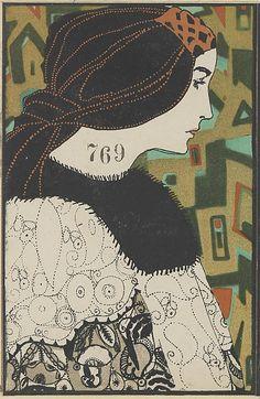 769. Maria Likarz, Wiener Werkstätte postcard