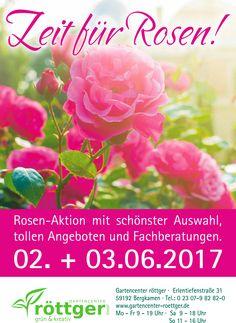 Garten-Center roettgerZeit für Rosen Aktionstage vom 2 bis 3. Juni 2017